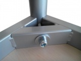 Table 120 x 80 cm with base metal