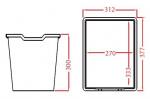Plastic drawer N3 JUMBO - translucent Gratnells