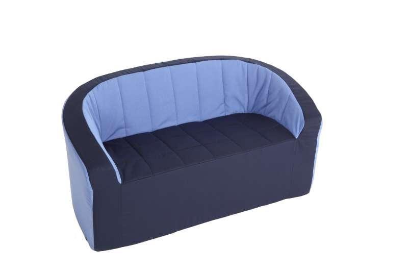 Double-Armchair (blue/light blue)