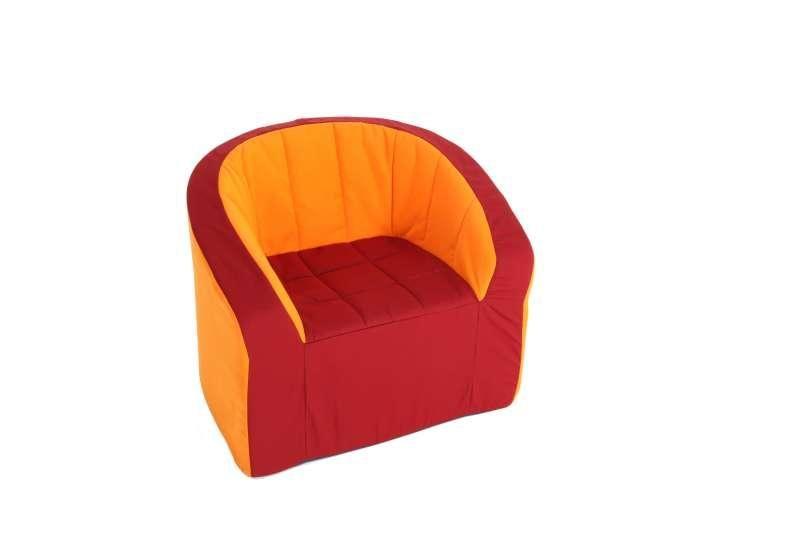 Armchair (vinous/orange)