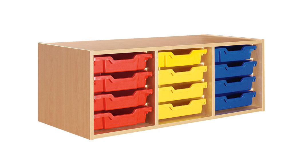 Top unit with 12 plastic drawers