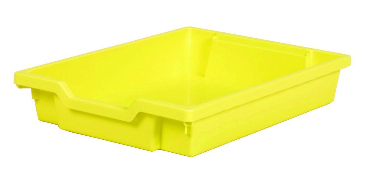 Plastic drawer SINGLE, pastel yellow Gratnells