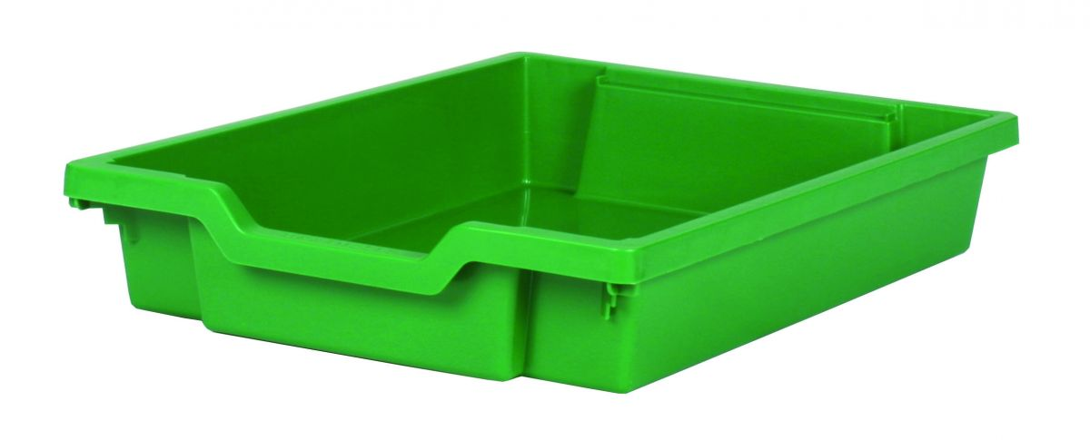 Plastic drawer SINGLE, green Gratnells