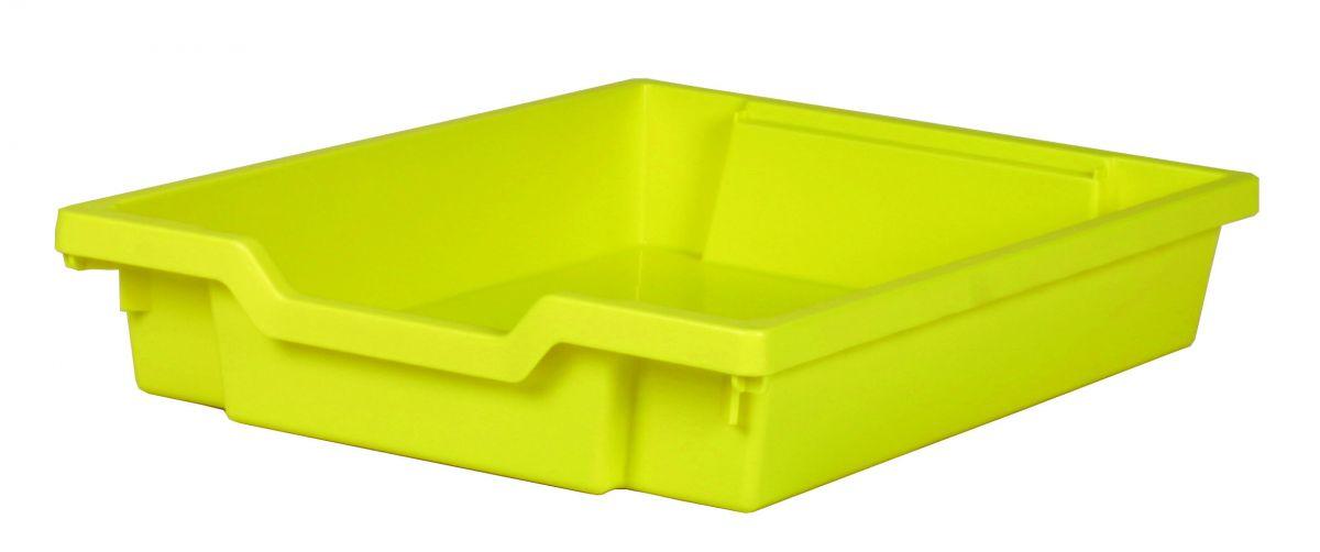 Plastic drawer SINGLE, yellow Gratnells