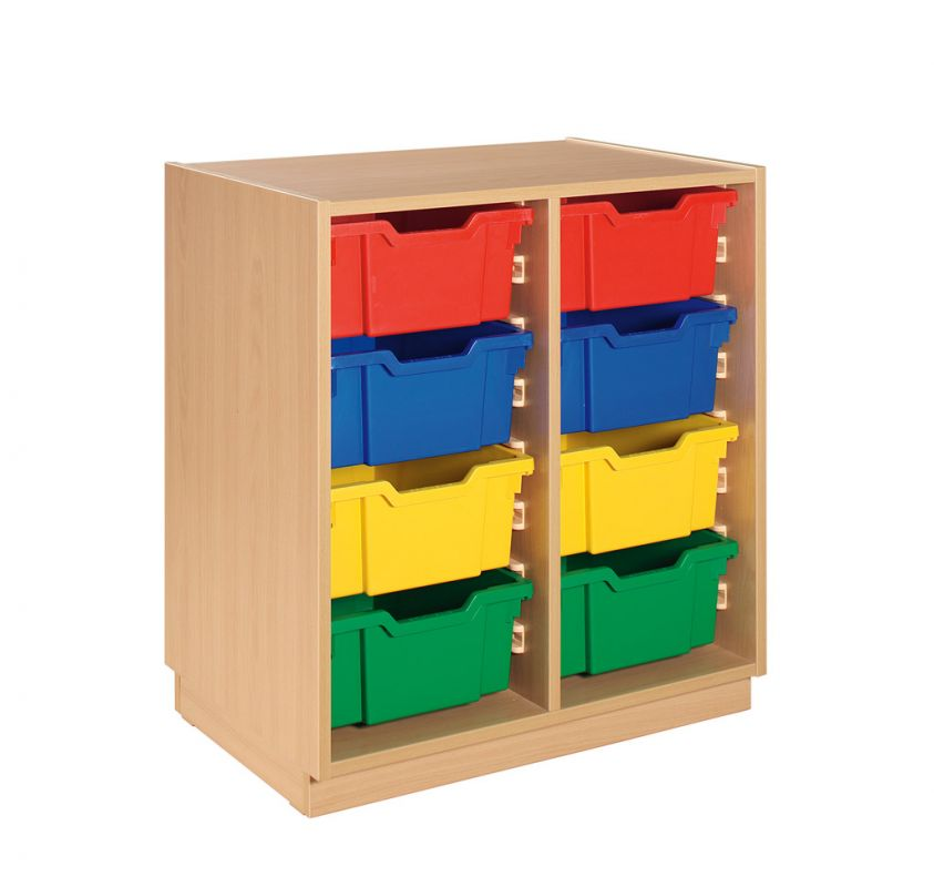 Cupboard with 8 plastic drawers