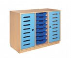 Cupboard with doors and 8 drawers