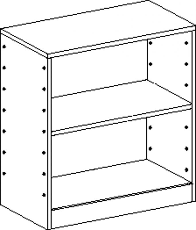 Cupboard with plinth and 1 shelf