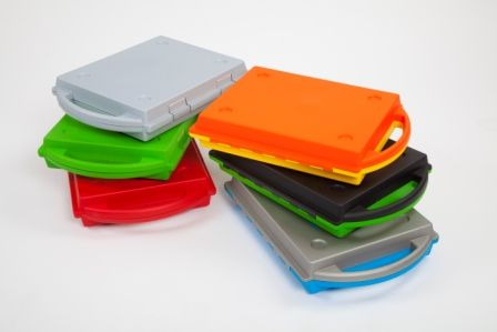 Plastic drawer SmartCase® -red base and red top