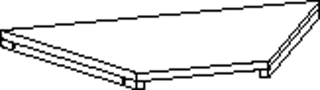 Trapezium shelf, angle 60°
