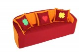 Sofa (vinous/orange)