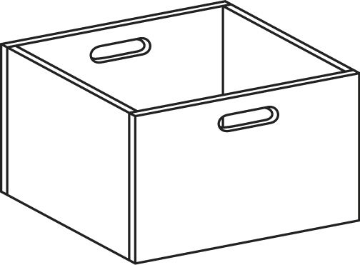 Drawer, solid beech