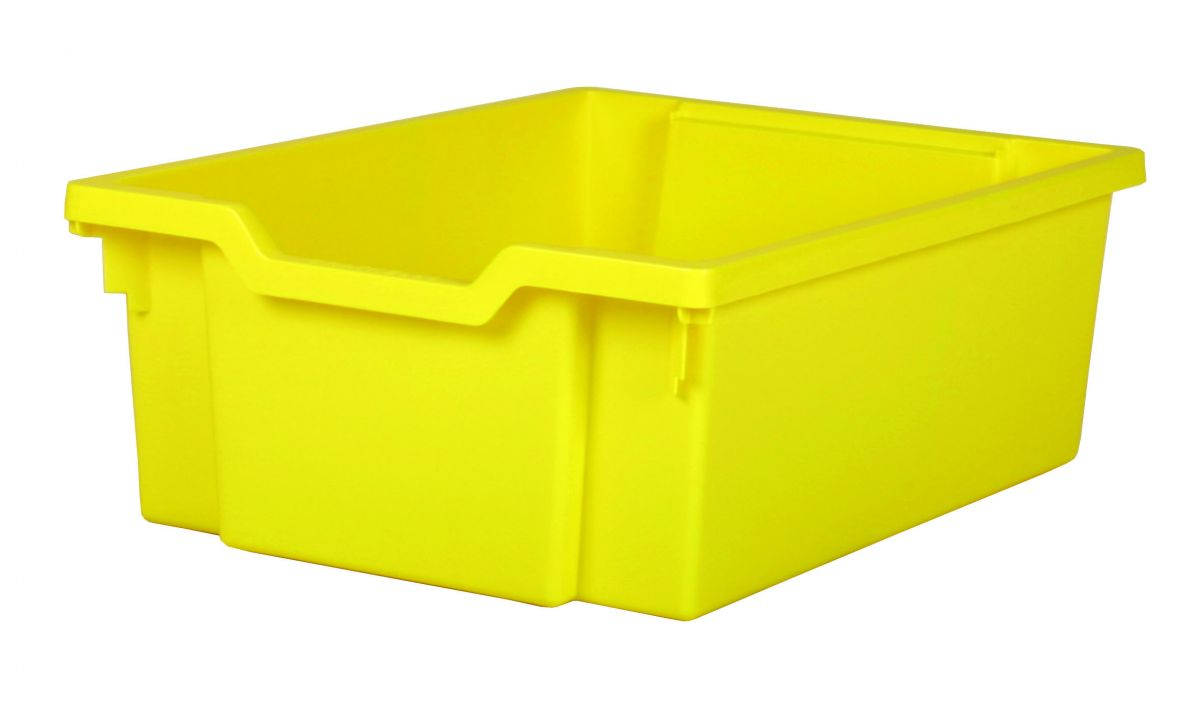 Plastic tray DOUBLE - yellow Gratnells