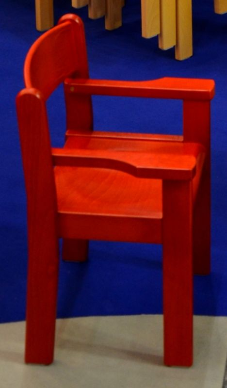 Chair with arm rest TIM II - stained all over