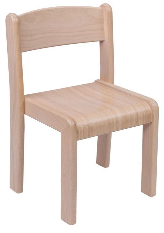 Stackable chair VIGO - beech decor