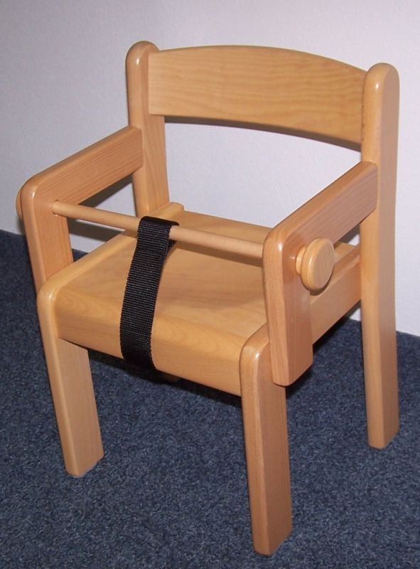 Chair with arm rest h.18 cm - natural + NIPPEL+STRAP