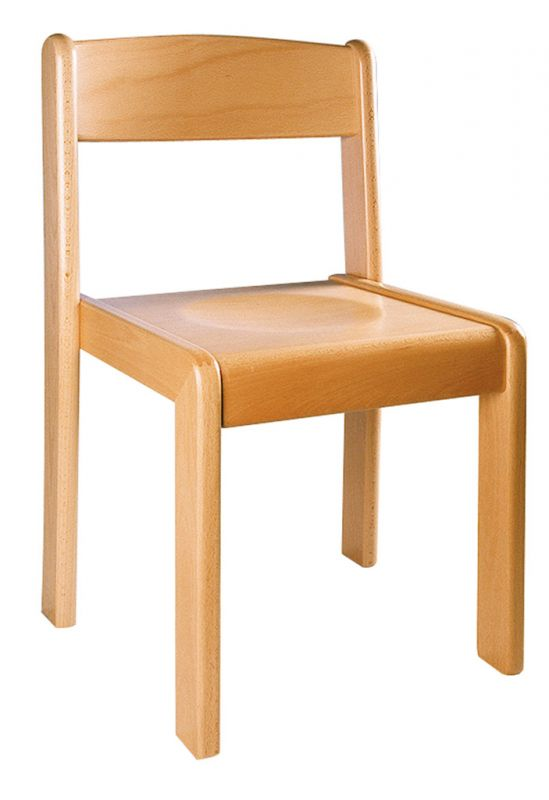 Stackable chair TIM - natural beech