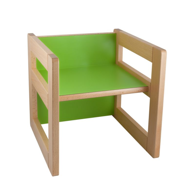 "Multifunctional element ""CUBE"" as a chair 15/22 cm or small table"