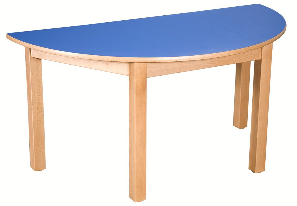 Halfround table 80 x 40 cm with formica table top