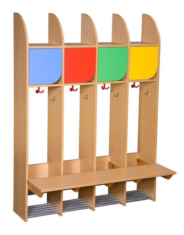 Four-piece cloakroom unit