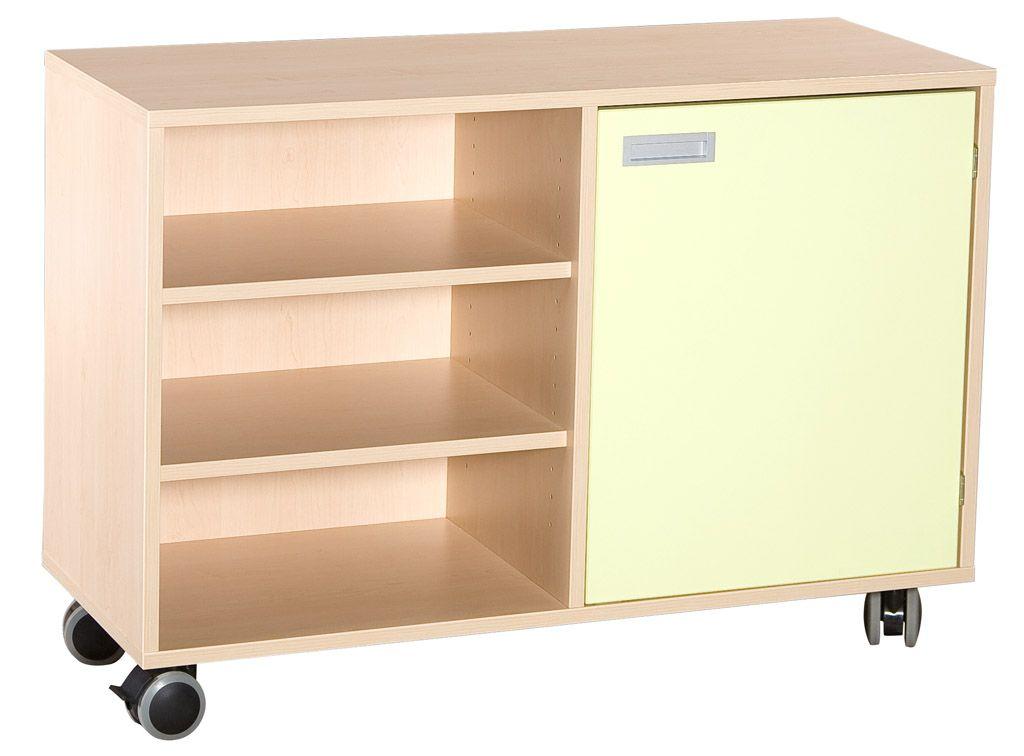Combined one-door cupboard with 4 shelves