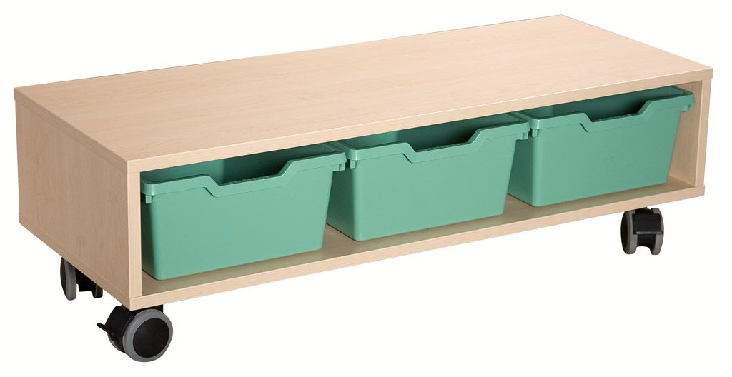 Cupboard universal with plastic trays