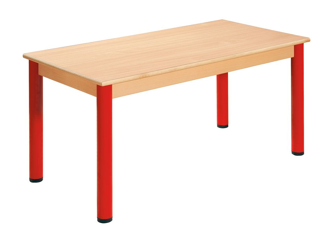 Table 120 x 60 cm with levelling feet