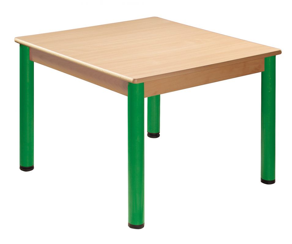 Square table 70 x 70 cm with levelling feet