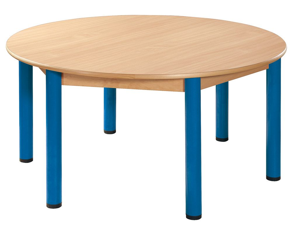 Round table run 120 cm with 6 legs with levelling feet