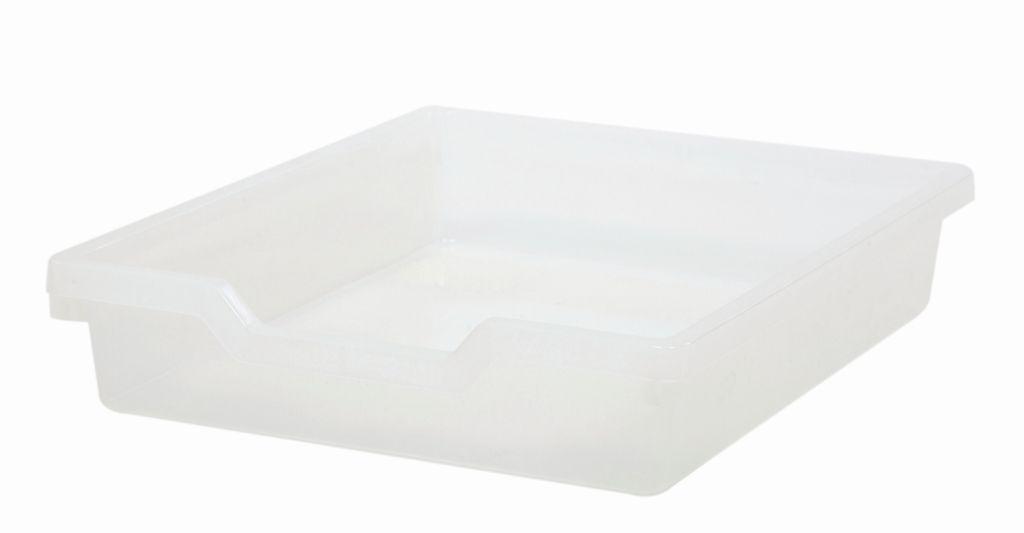 Plastic drawer N1 SINGLE, translucent Gratnells