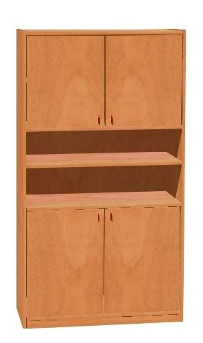 Chest with 4 doors and shelves