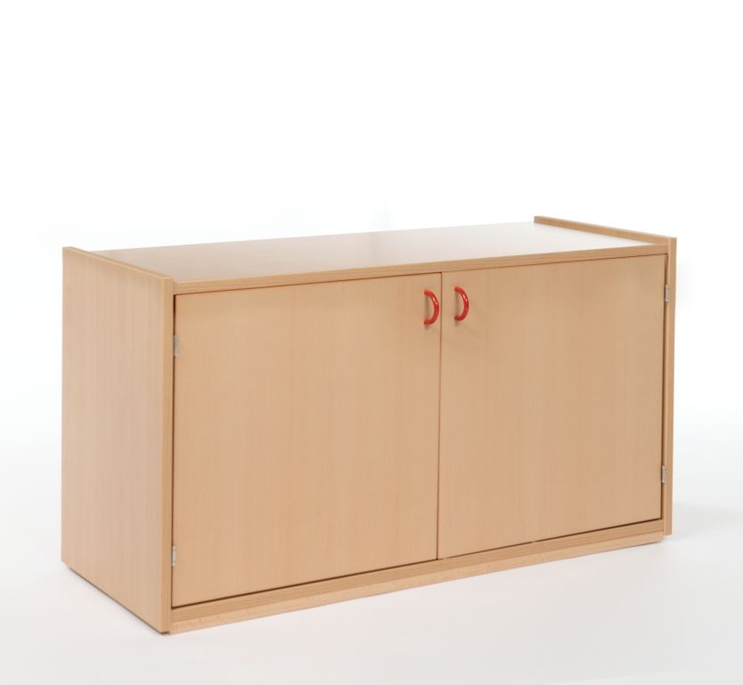 On-top two-door cupboard with 1shelf / depth 60 cm