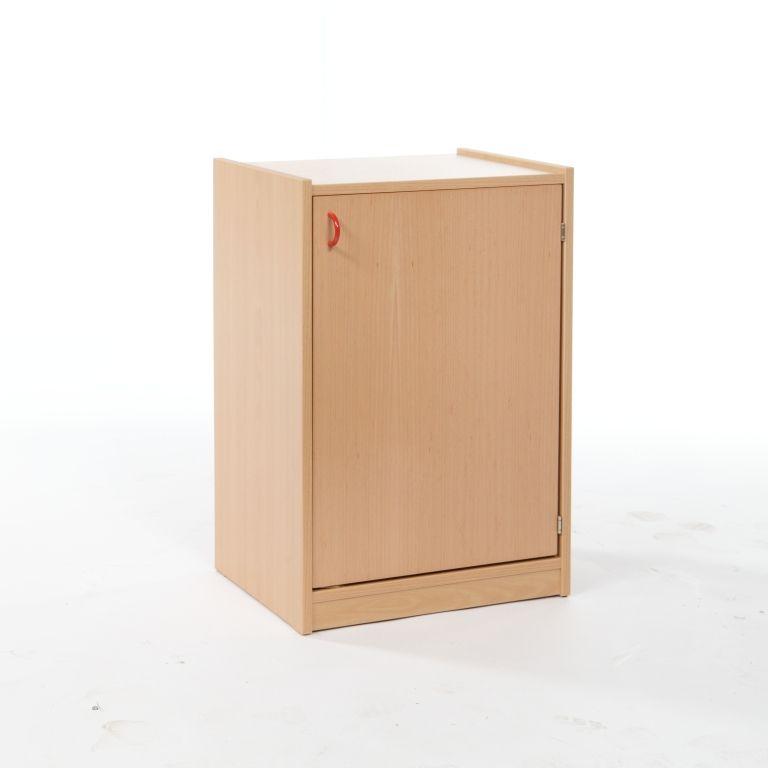 One-door cupboard with 2 shelves