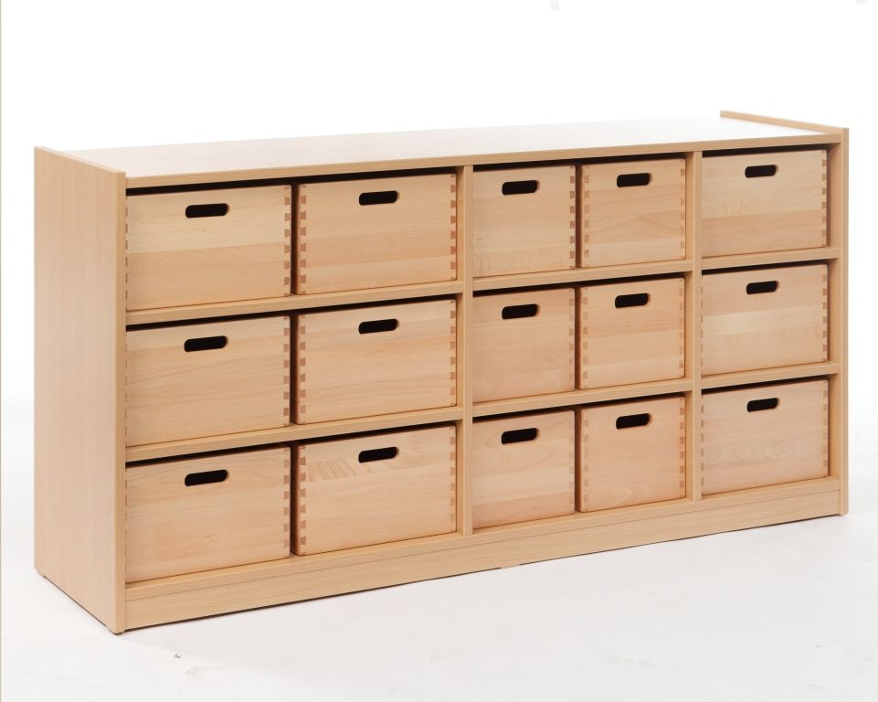 Cupboard with 15 drawers, single-sided