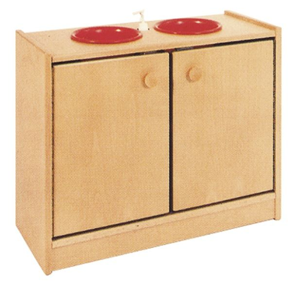Cupboard with sinks