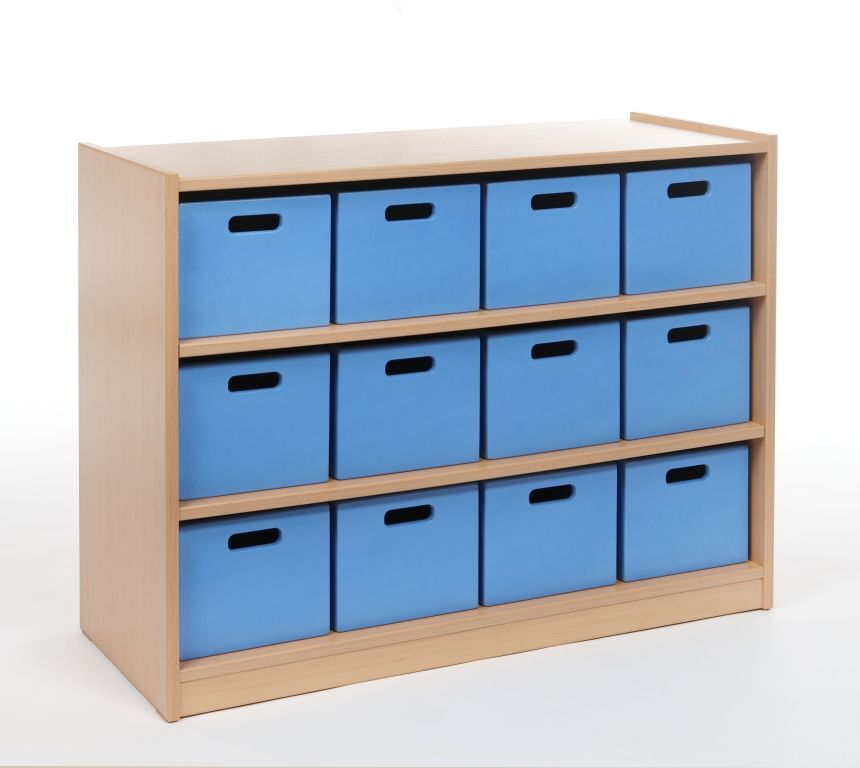 Cupboard with 2 shelves and 12 drawers