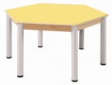 Hexagonal table run. 120 cm / height adjustable legs 36 - 52 cm