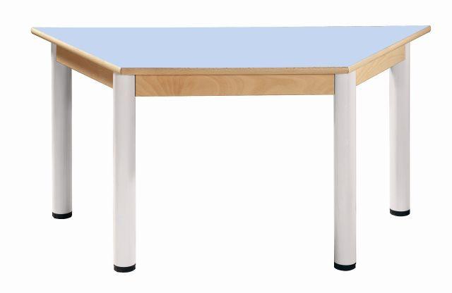 Trapezoidal table 120x60 cm / height adjustable legs 36 - 52 cm