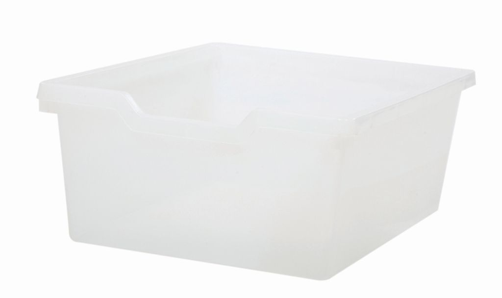 Plastic drawer N2 DOUBLE - translucent Gratnells