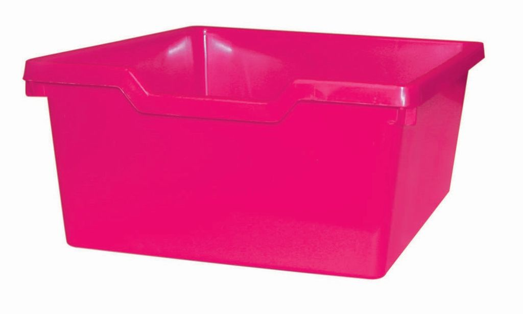 Plastic drawer N2 DOUBLE - pink Gratnells