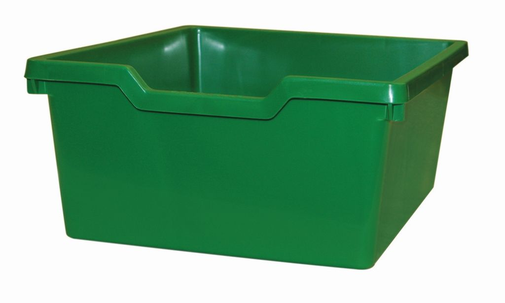 Plastic drawer N2 DOUBLE - green Gratnells