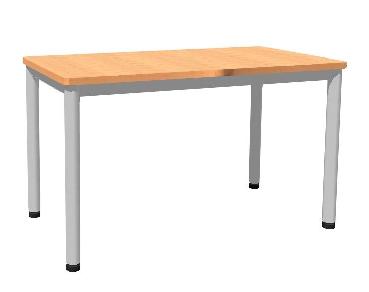 Table 130 x 70 cm with base metal
