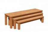 Set of 3 benches with formica seat