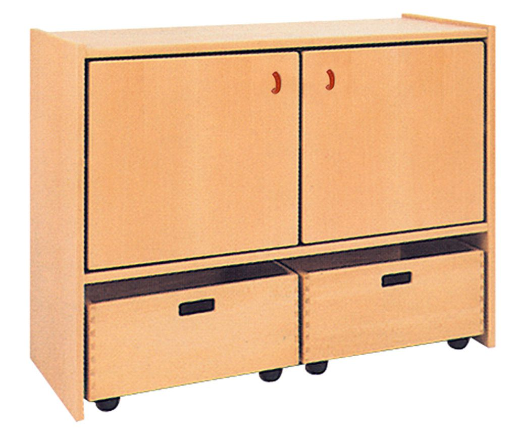 Two-door cupboard with 2 drawers