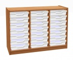 Cupboard with plint and 21 shelves and 3+1 plastic drawers