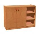 Cupboard with plint, 2 doors left and 4 shelves TVAR v.d. Klatovy