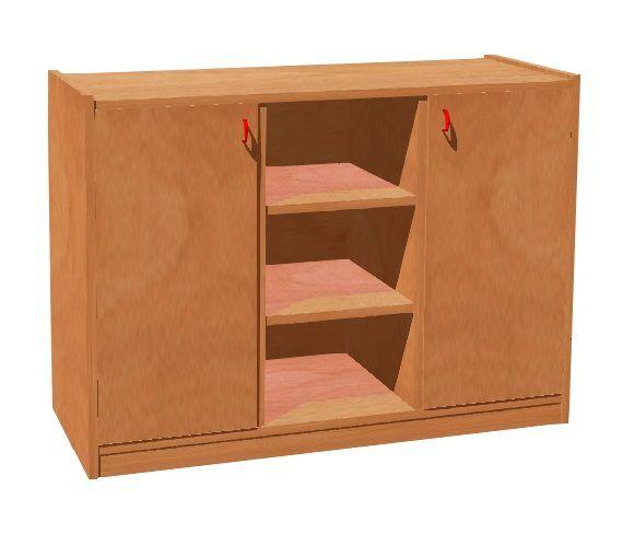 Cupboard with plint, 2 doors and 6 shelves TVAR v.d. Klatovy