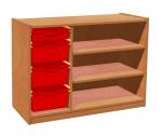 Cupboard with plint, 2 shelves and 3+1 plastic drawers TVAR v.d. Klatovy