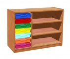 Cupboard with plint, 2 shelves and 7 plastic drawers