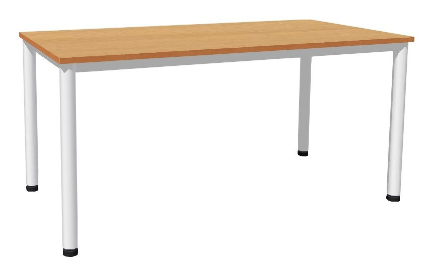 Table 160 x 80 cm with base metal