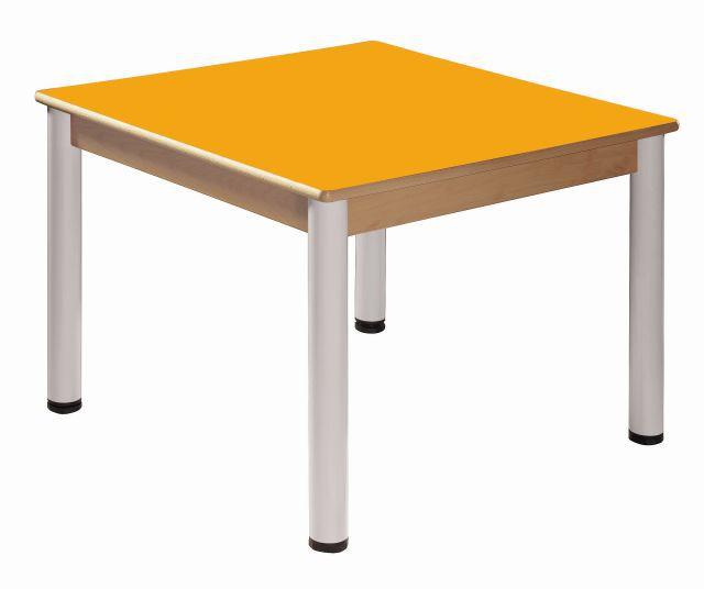 Table 80 x 80 cm / height adjustable legs 52 - 70 cm